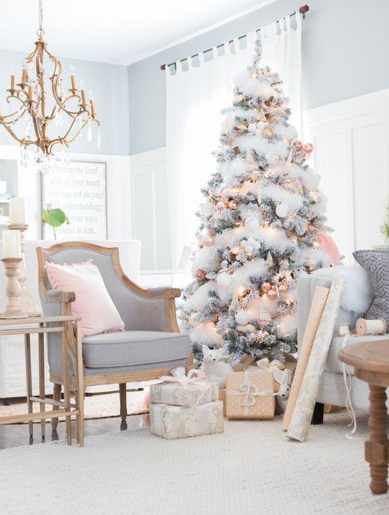 M s de 25 ideas incre bles sobre arbol navidad blanco en - Arbol de navidad en blanco ...