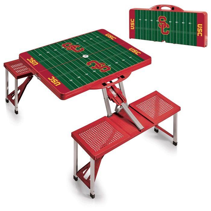 USC Trojans Red Portable Picnic Table.  Visit SportsFansPlus.com for Details.