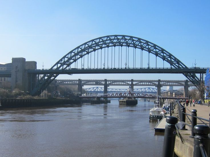 Fab view of the original five bridges over the River Tyne. The one in the forefront is called the Tyne Bridge and this is mentioned in Stripped. Dev painted it as a trompe l'oeil
