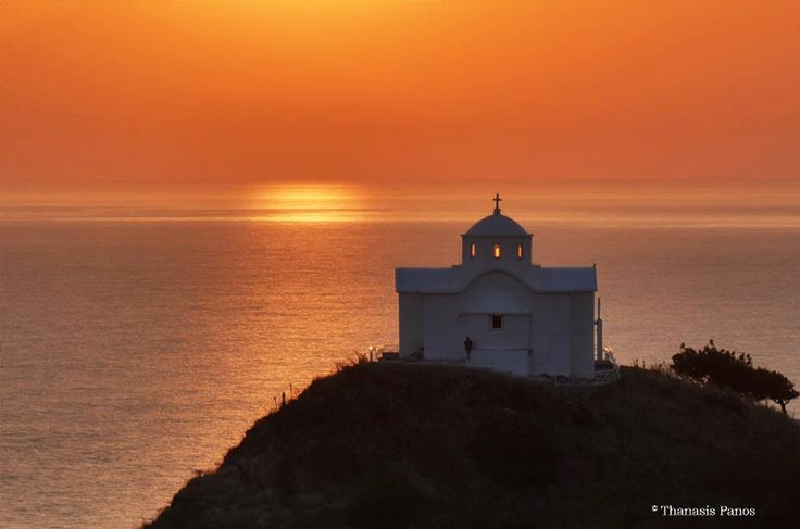 The church of St. Nicholas stands at the entrance of the port of Myrina in Lemnos..... took amazing pictures here last time we went... we can see it from our house <333