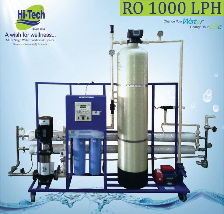 Full automatic 1000 lph ro plant at affordable price in india.  http://www.hitechro.net. #1000 lph ro plant #industrial ro plant