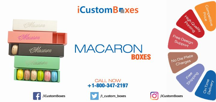 iCustomBoxes offers wonderful customization in terms of shapes, sizes, styles and colors in order to inspire the audience targeted. We offer multiple finishing options including debossing, embossing, UV coating, stamping, silver foiling, gold foiling, etc. Avail custom macaron boxes at the lowest market price. We try to show all aspects of custom Macaron boxes. Please do not hesitate to call or email for further information.