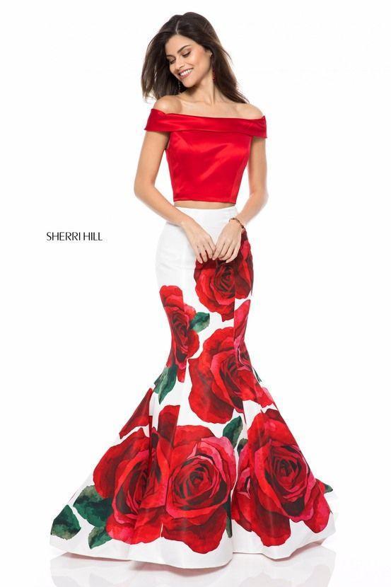 a3e0f8f21de Sherri Hill Red Rose Dress 🌹  51850 https   www.sherrihill.