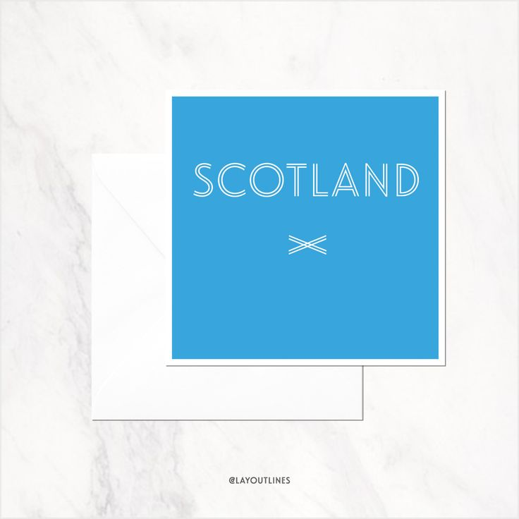 SCOTLAND greetings card blank inside by shopLAYOUTLINES on Etsy