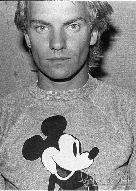 Sting photographed by Marcia Resnick, 1979.