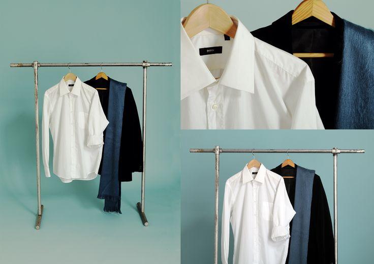 Hugo Boss Shirt: http://retrock.com/products/white-shirt-1  Suti: http://retrock.com/products/black-velvet-vintage-jacket  Scarf: http://retrock.com/products/lively-blue-alpaca-scarf-from-ecuador-hilltribe
