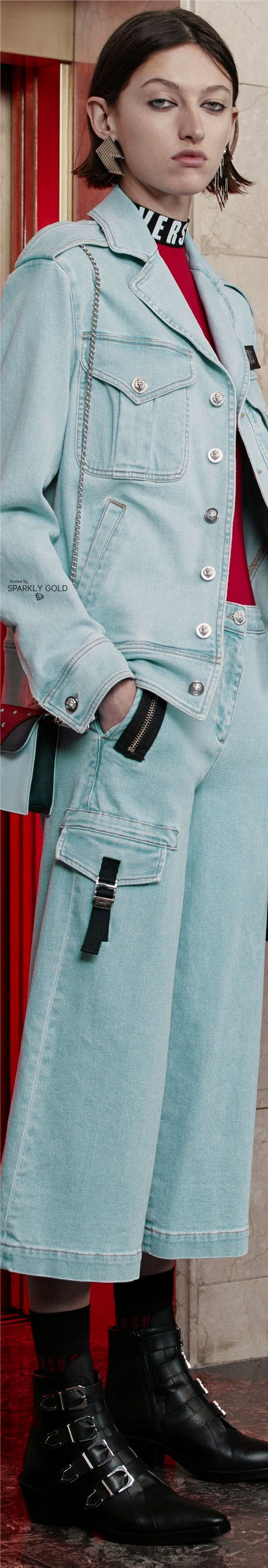 Winter mens men s fall fall autumn pre fall denim winter jeans - Versus Versace Pre Fall 2017 Denim Styleversus Versacedenim Fashioncapri Pantsautumn Fashioncouture Collectionfashion 2017winter