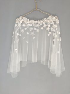 Bridal capelet Bridal cover up Lace cover up by HanakinLondon http://bellanblue.com