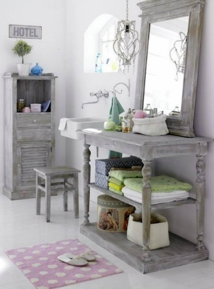 Open shelving is super practical and can give your country style bathroom a contemporary edge if you stain it in a more manly shade - think washy greys and grown up navy. Description from pinterest.com. I searched for this on bing.com/images