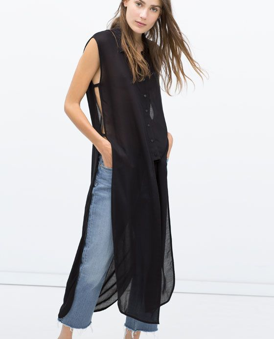 LONG SHIRT WITH VENTS