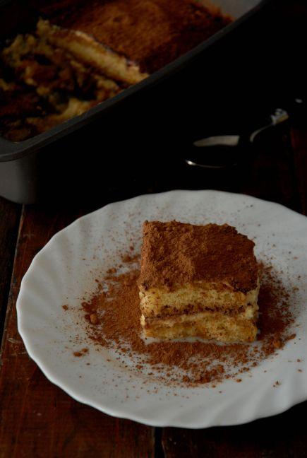 A slice of homemade tiramisu cake RECIPE