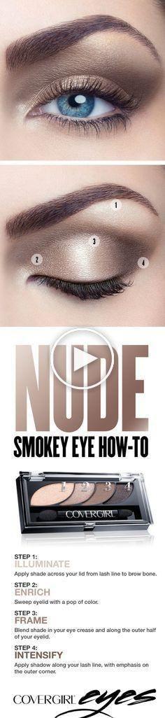 Instructions étape par étape pour un Smokey Eye nude naturel