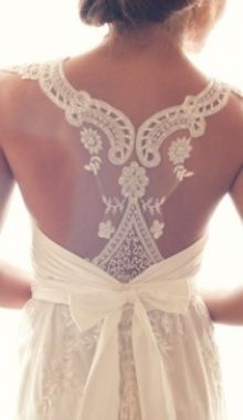Beautiful laced back of a wedding gown