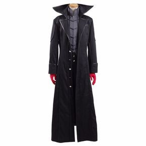 Persona 5 Kaitou Costume Protagonist Cosplay Trench&Shirt Pants Gloves Men's Party Suits Black Long Jacket Coat