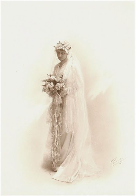 ~ The Feathered Nest ~: antique bride photograph