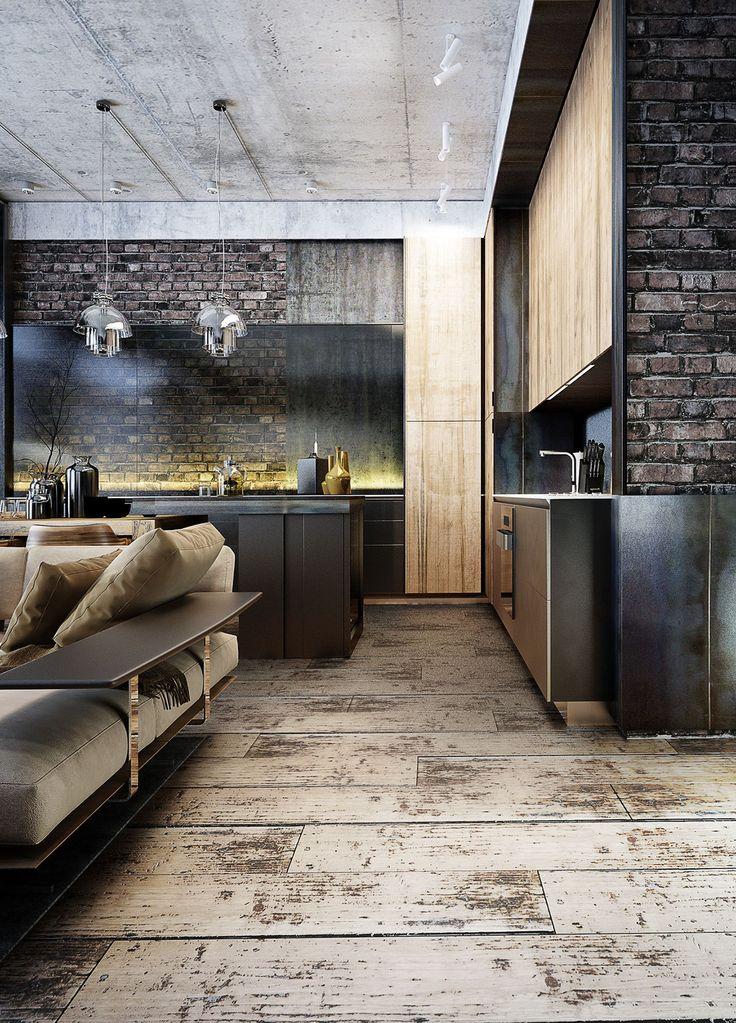 Les 25 meilleures id es de la cat gorie d coration - Loft industriel design retro rustique ...