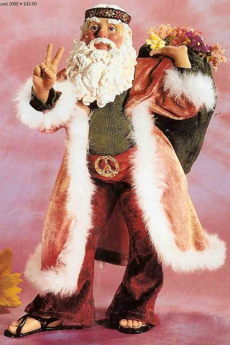 Hippie Santa..now we could get along well..cool..