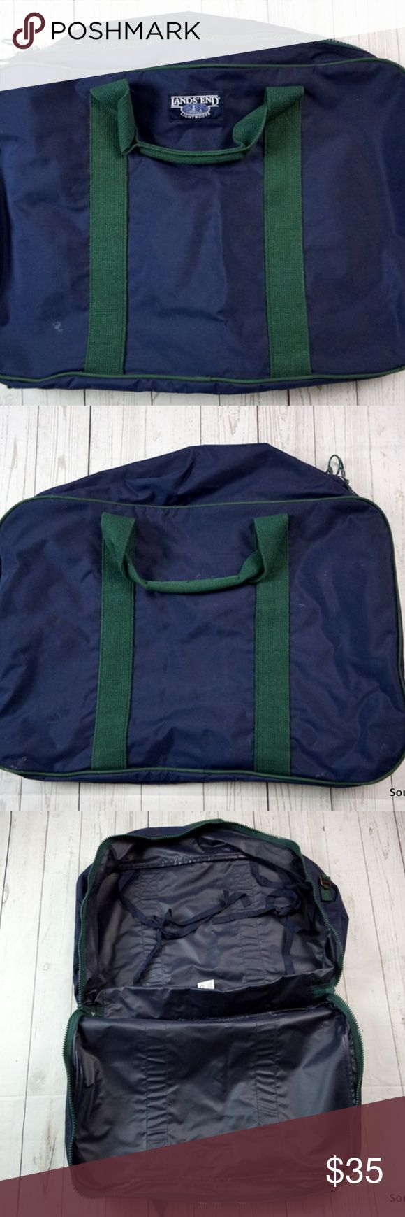 "Vintage Lands End Lighthouse Large Nylon Bag Vintage Lands End Lighthouse Bag, 24 x 17 x 7, Vintage Bag, Luggage, Large Bag, Large Nylon Bag, Quality Made, Made in the USA  Brand: Lands End Material: Nylon  Detailed Measurements:    24"" x 17"" x 7"" Lands' End Bags Luggage & Travel Bags"