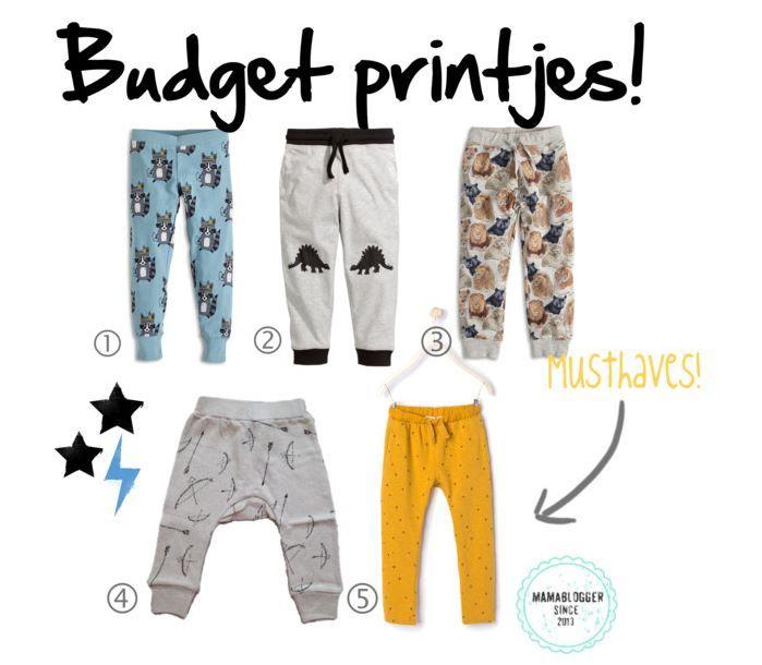 Leuke broekjes voor stoere jongens mét printje! Ik verzamelde er vijf waarvan de duurste €19,95 is, super voor het nieuwe schooljaar. Welke vind jij het leukst?