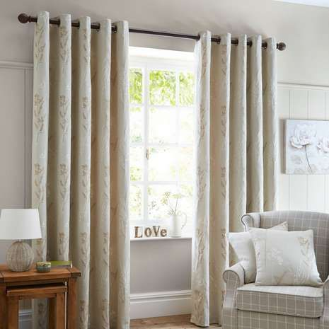 17 Best ideas about Natural Eyelet Curtains on Pinterest | Lounge ...
