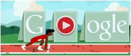 Doodle do Google, homenageia corrida com obstáculos