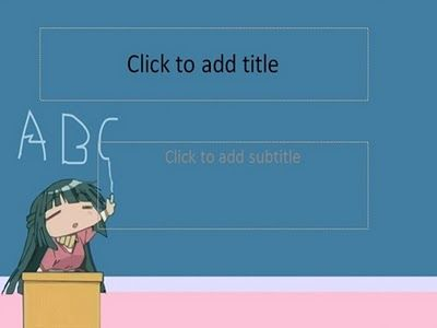 Simple and special anime girl template for powerpoint
