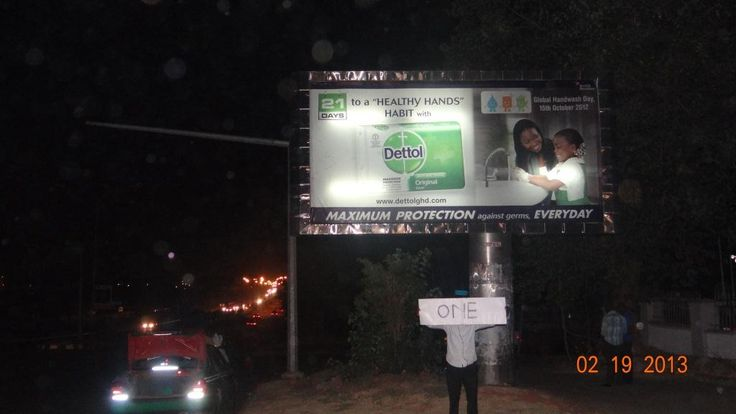 Night pictures of our billboards so lovely, only from Gems Communications Ltd
