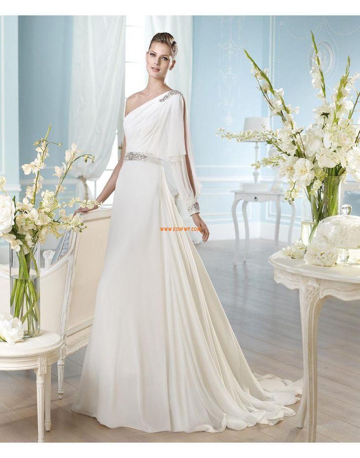 Hof Sleep Kleine White Jurken Crystal detaillering Designer Trouwjurken