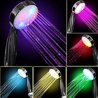 Water+Flow+Power+Generation+gradual+del+color+cambiante+ducha+de+mano+LED+–+EUR+€+11.07