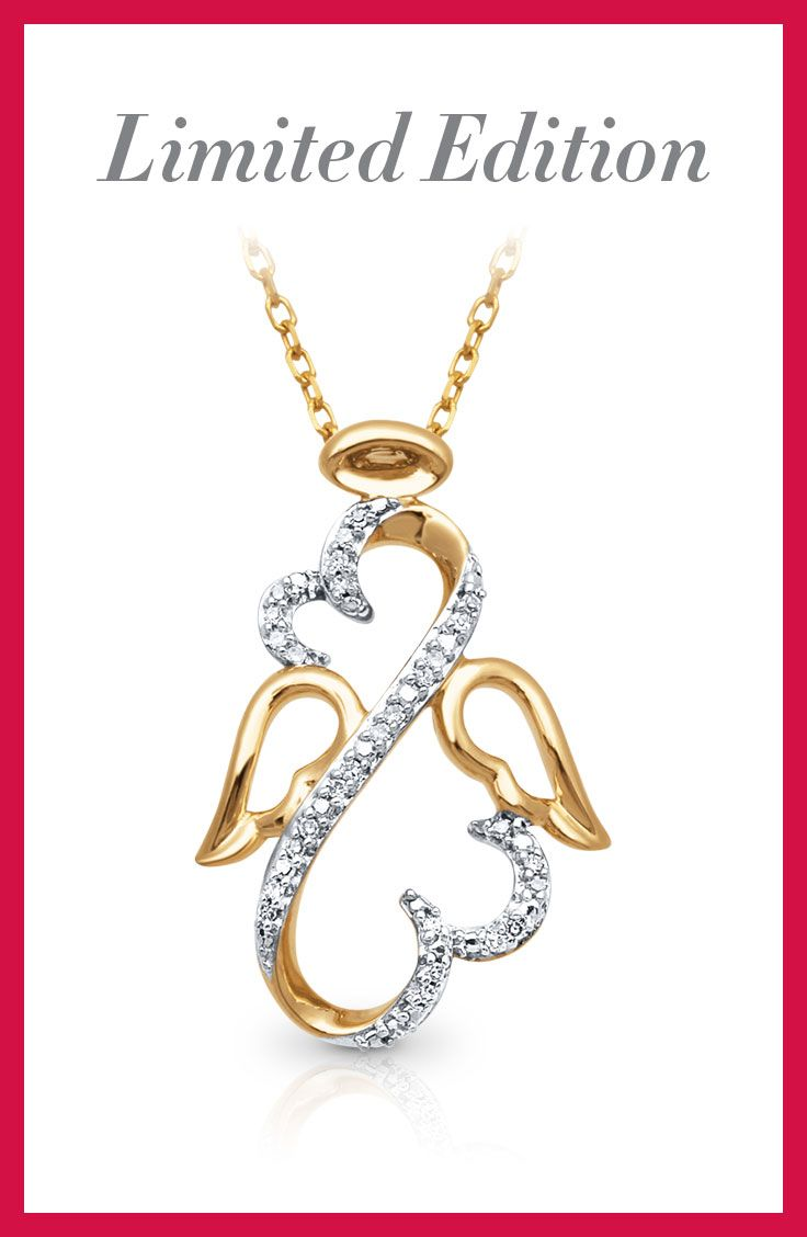 46 best a kay holiday images on pinterest round diamonds she will find comfort and joy in this limited edition open hearts angel necklace the buycottarizona Gallery