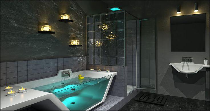 Contemporary Bathroom Caustics by DavidHier.deviantart.com