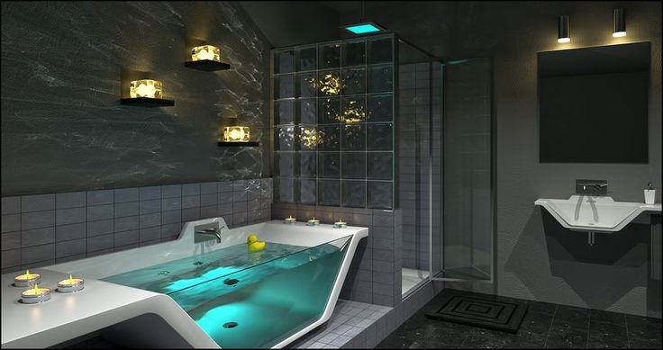 Contemporary Bathroom Caustics by DavidHier.deviantart.com