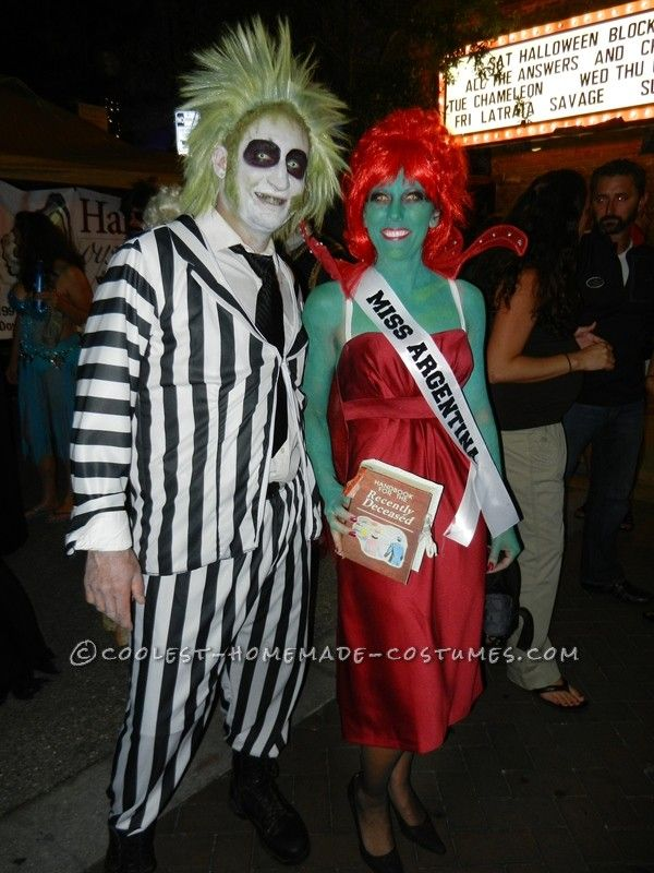 240 best creative couples costumes images on pinterest halloween crazy creative beetlejuice and miss argentina couple costume with props solutioingenieria Gallery