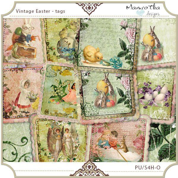 Vintage Easter - tags