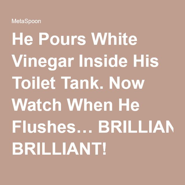 how to clean toilet tank with vinegar and baking soda