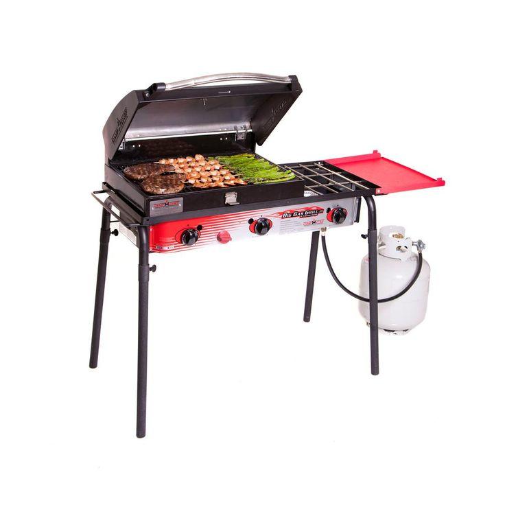 Camp Chef Big Gas 3-Burner Propane Gas Grill in Red, Black