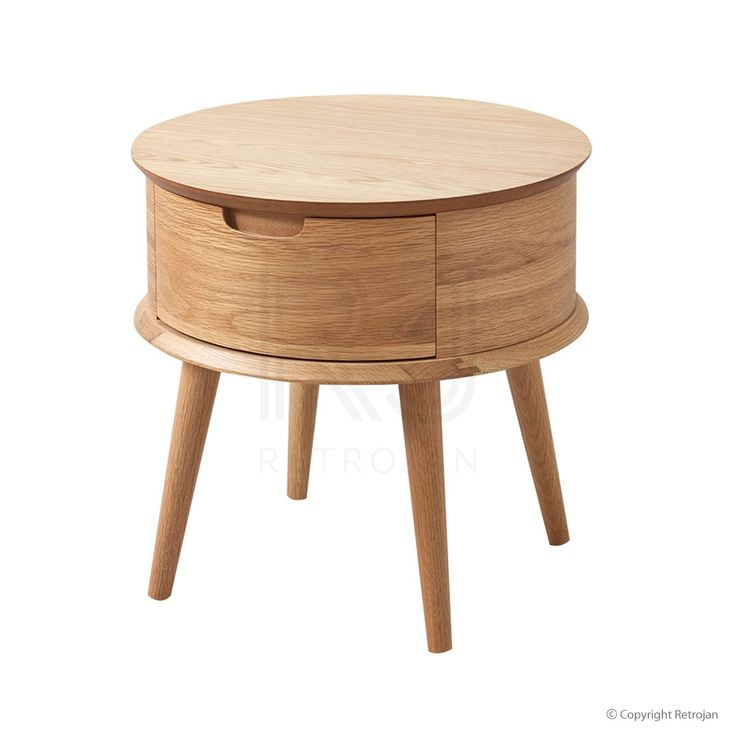 Malmo Ziggy Contemporary Design Bedside Table - Oak