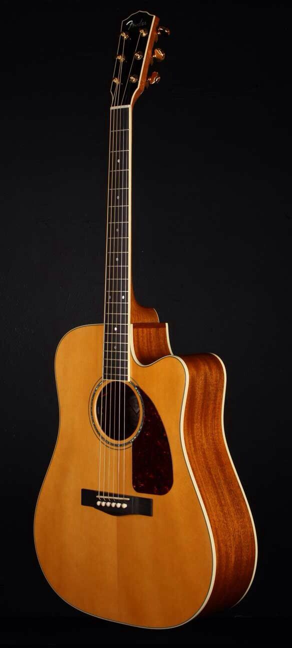 FENDER TPD-1 Custom Shop Traditional Pro USA Dreadnought Acoustic Electric Guitar - Natural | Small White Mouse
