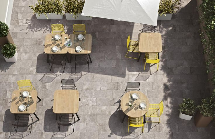 Beautiful stone paving tiles ideal for patios and outdoor seating areas as well as internal use.  #stoneway #porfido #tiles