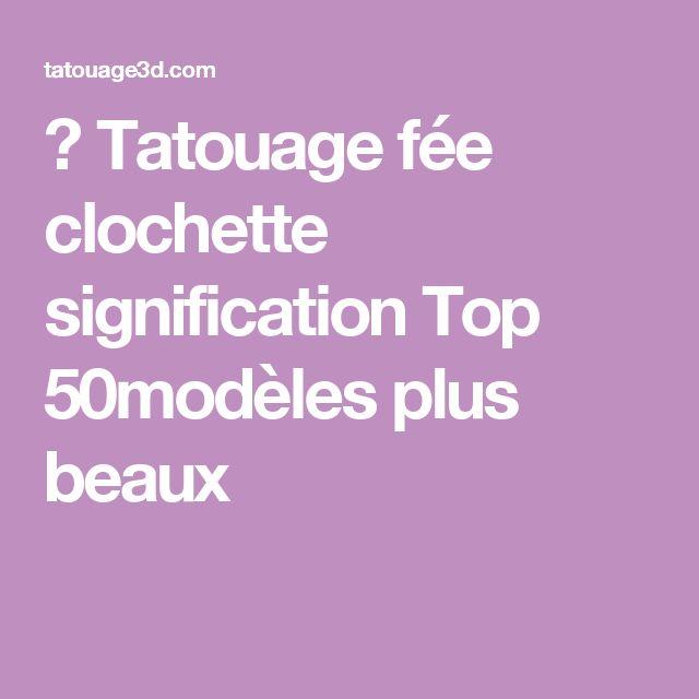 ▷ Tatouage fée clochette signification Top 50modèles plus beaux