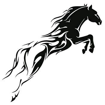 tribal horse tattoo design                                                                                                                                                                                 Plus