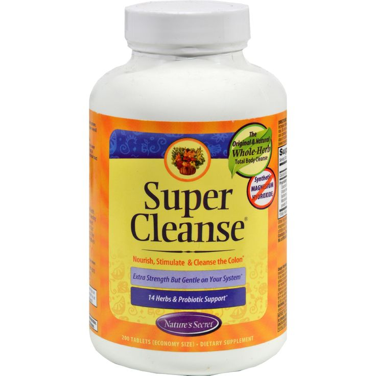 Natures Secret Super Cleanse - 200 Tablets - Natures Secret Super Cleanse Description:    The Original and Natural Whole-Herb Total Body Cleanse  No Synthetic Magnesium Hydroxide  Nourish Stimulate and Cleanse the Colon  Extra Strength But Gentle on Your System  13 Cleansing Herbs and Probiotic Support   Super Cleanse Our bodies are not equipped to handle the amount of toxins we come into contact with every day. Taking a proactive approach toward moving these chemicals through your body…