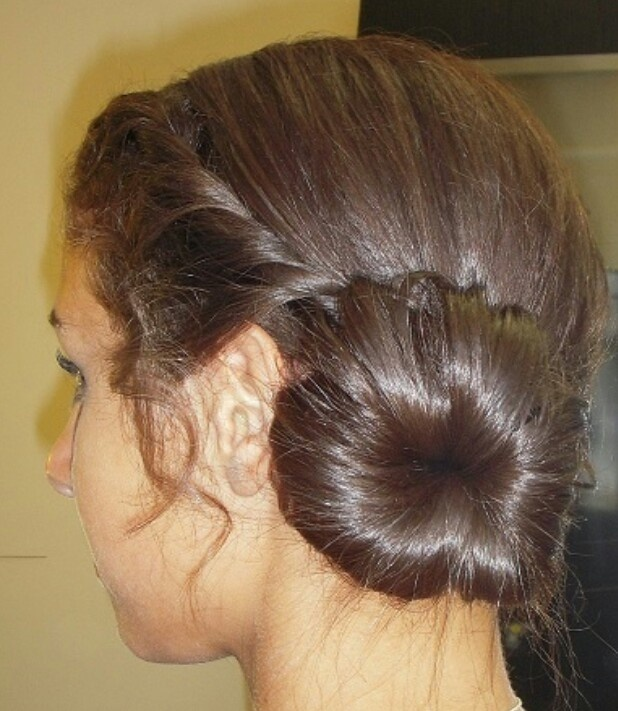 Wedding Hairstyles For Junior Bridesmaids : Junior bridesmaid hairstyle bun twist braid my art