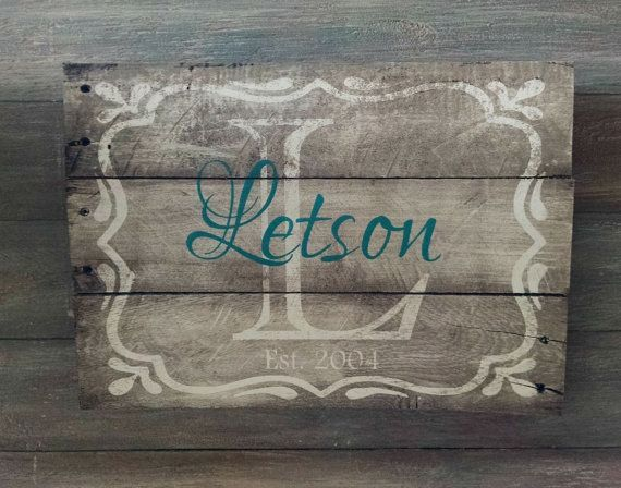 Family Name Established Sign  Family Name Sign by OnALimbCreations