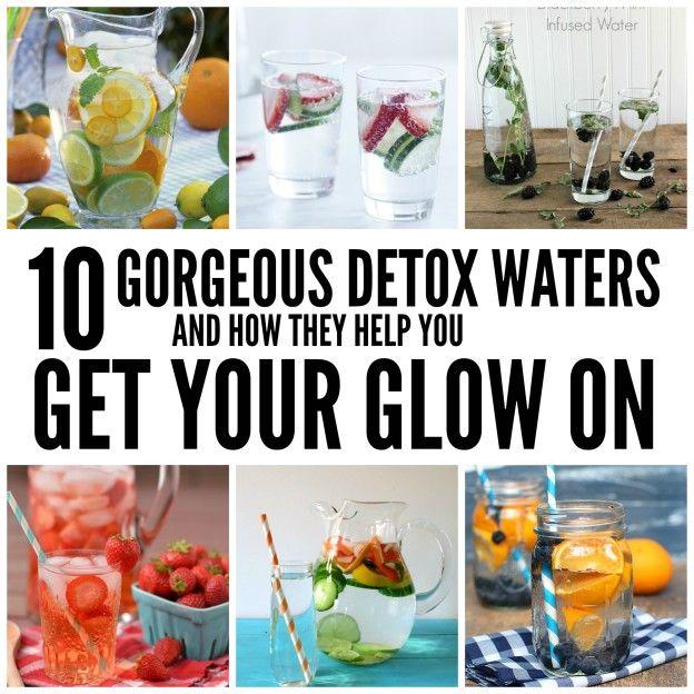 10 detox water recipes