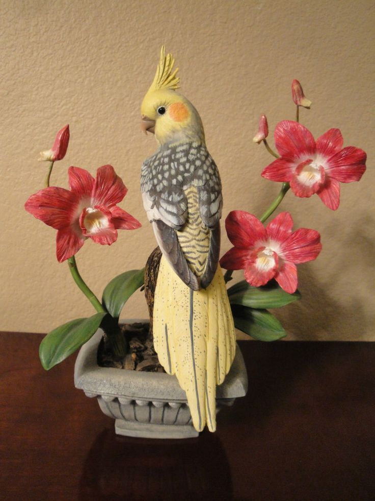 Peaceful Beauty Cockatiel By Bob Guge Danbury Mint