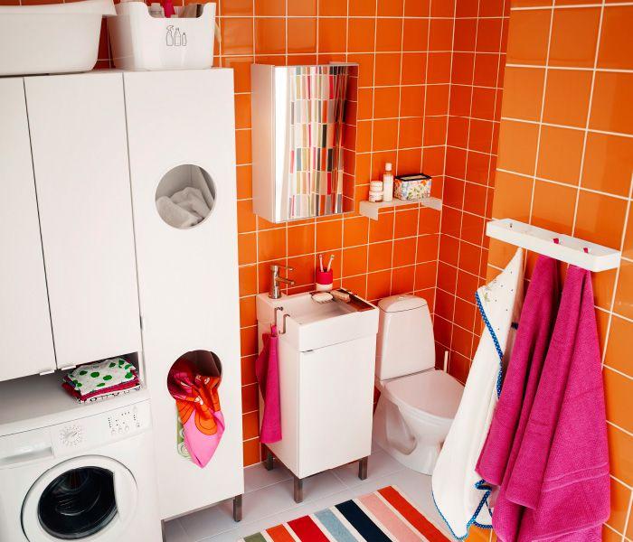 Unter Waschmaschinenschrank : mit LILLÅNGEN Wäscheschrank, LILLÅNGEN Waschmaschinenschrank