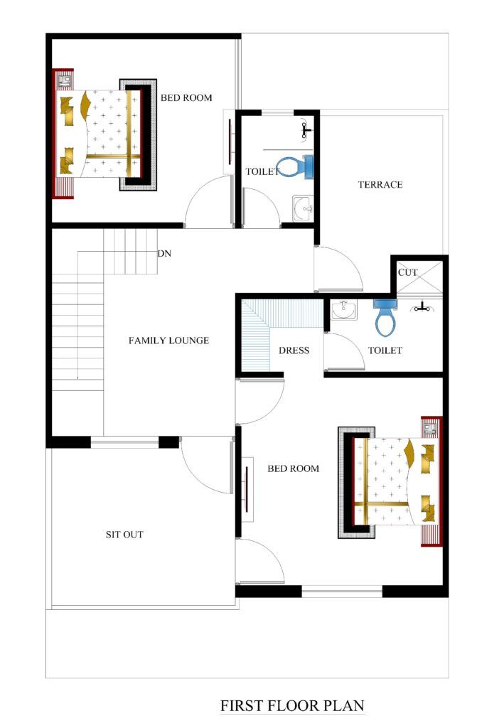 25x40 House Plans For Your Dream House House Plans House Plans 20x40 House Plans Small House Plans