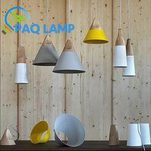 HELLING lampen hanglampen Skrivo ontwerp Hout en aluminium lamp restaurant bar koffie eetkamer LED opknoping lichtpunt(China (Mainland))