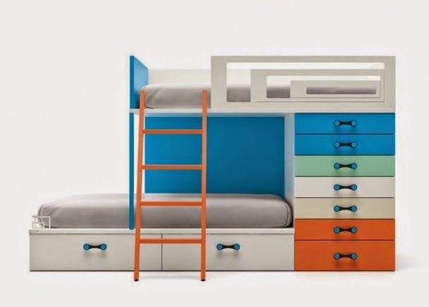 Mejores 11 imágenes de Camas triples en Pinterest | Habitaciones ...